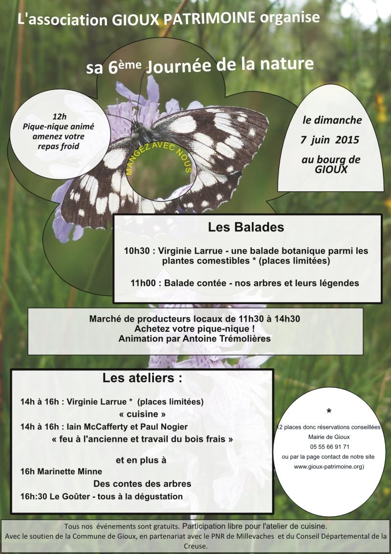 Affiche journée de la nature 2015